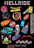 Наклейка Hellride Sticker Pack A4 2021