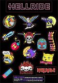 Наклейка Hellride Sticker Pack A4 2020