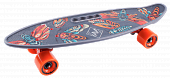 Скейтборд Tech Team Cruiser Fishboard 23 Print Grey