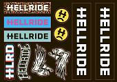 Наклейка Hellride BMX Sticker Pack 2018
