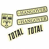 Наклейка TotalBMX Hangover H4 Decal 2020